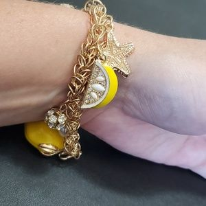Jewelry - Gold tone lemon charm bracelet